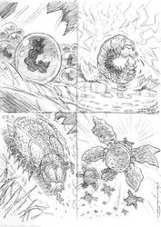 Developmental Stages of the Baconchee Burgerfly by strickart