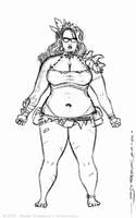 JENN character sketch 4 by strickart