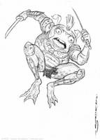 Frog Soldier sketch 1 by strickart