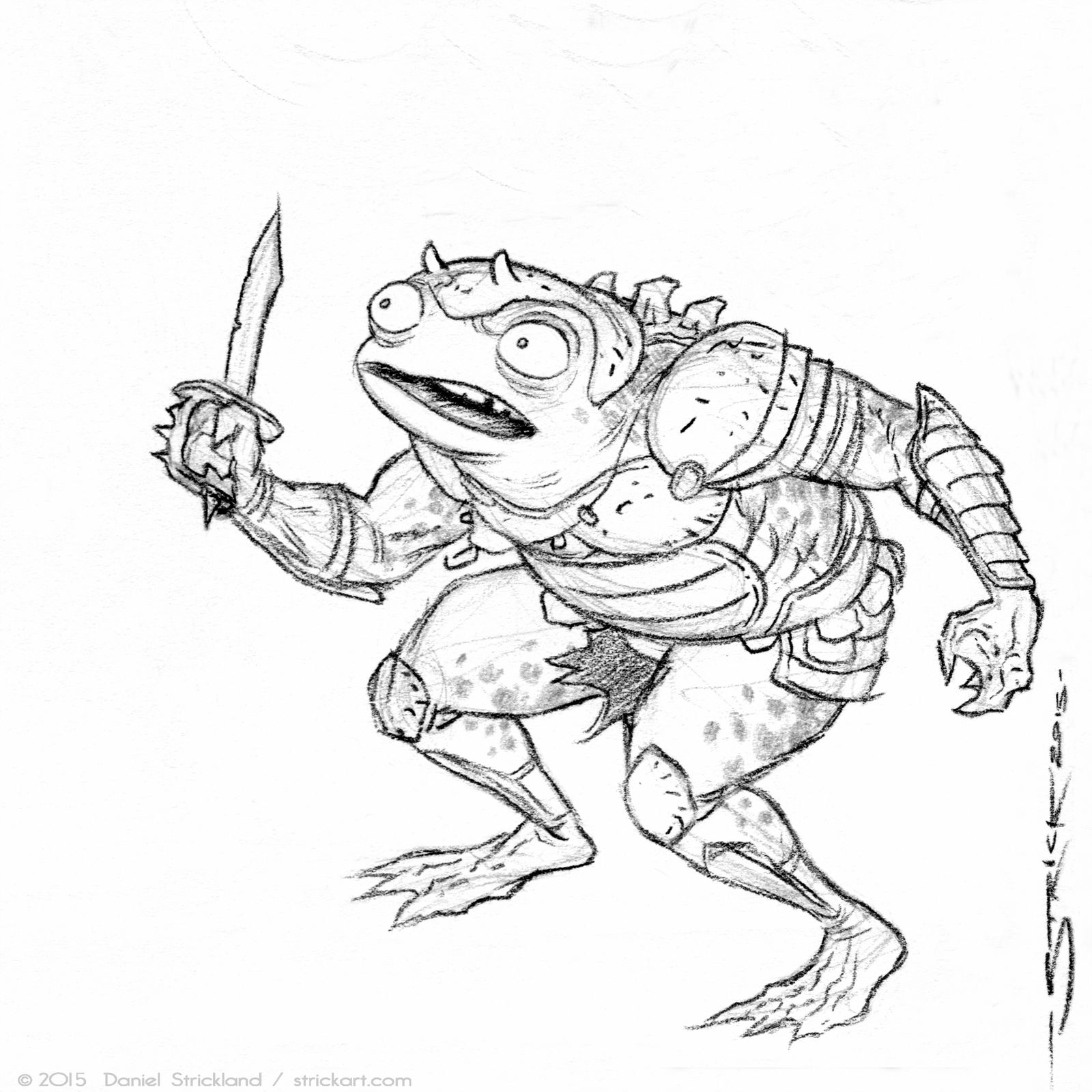 Frog Soldier sketch 4 by strickart