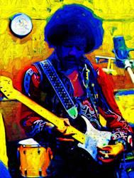 Jimi Hendrix by Franflow