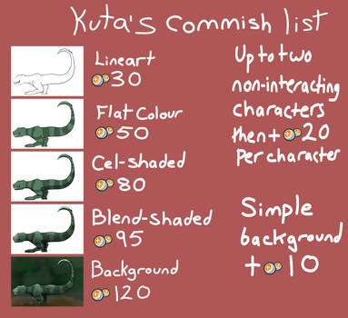 Commission Prices 2013 by Kutanra