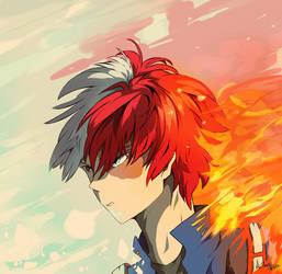 Shoto Todoroki - My hero Academia by ArthasElric