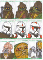 Clone Wars sketch cards 3 by NORVANDELL