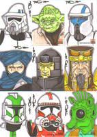 Star Wars Galaxy 5 batch 9 by NORVANDELL