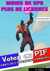 Votez au P.I.F. - Pyro (TF2) by Gellax