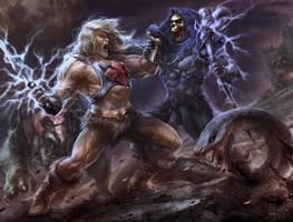 Skeletor Vs Heman by rey7eighties
