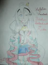 Nyotalia x Vocaloid: Julchen Beilschmidt as MAIKA by NammytheCommie