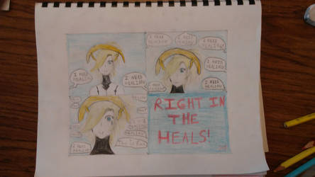 Right in The Heals (OW Mercy Comic) by NammytheCommie