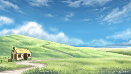 Field With a House by Whit3Fir3