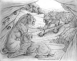 Werewolf Calendar 2011 Pencils by synnabar