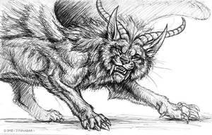 Pen Sketchbook - Shakti Avatar IV by synnabar
