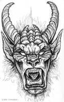 Pen Sketchbook - Krampus II by synnabar