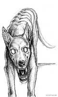 Pen Sketchbook: Thylacine by synnabar
