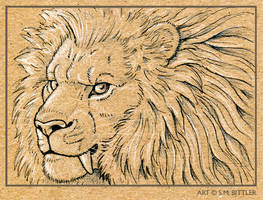 ACEO - Saberlion by synnabar