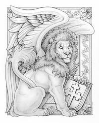 BoY Winged Lion Final Pencils by synnabar