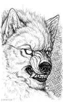 Pen Sketchbook - Wolf Man by synnabar