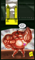 Diana Sable Cartoon: Two Building's  one Biceps by allegend