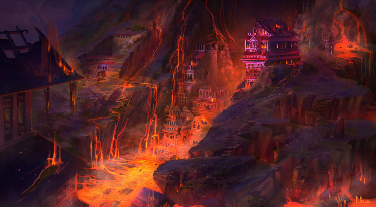 Forbidden City of the Frozen - Lava Version by ARTdesk