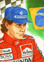 001 Ayrton Senna by wkohama