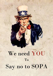 We need YOU to say no to SOPA by longlong240