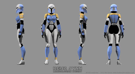 Female Mandalorian Armor - Reisa Turnaround Color by Ravendeviant