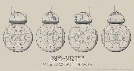 BB-8 Schematic Blueprint Turnaround by Ravendeviant