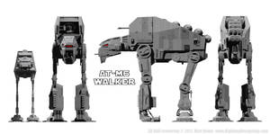 AT-M6 Walker - Size Comparison by Ravendeviant