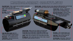 Mandalorian Gauntlet (Vambrace) Features by Ravendeviant