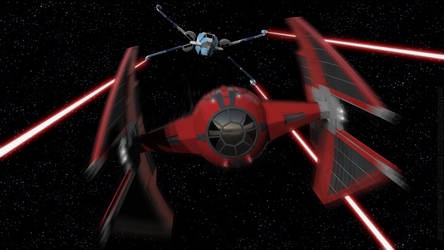 T-85 X-Wing vs. First Order TIE Interceptor by Ravendeviant