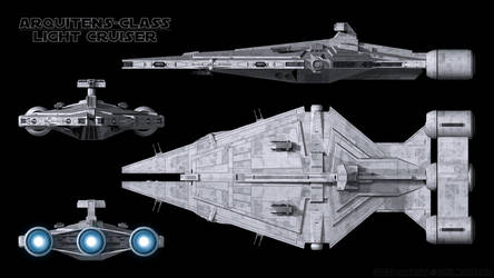 Imperial Light Cruiser - Schematics by Ravendeviant