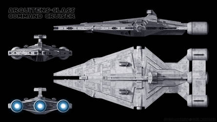 Imperial Command Cruiser - Schematics by Ravendeviant