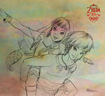 Skyward Couple - WIP by MaruroSan