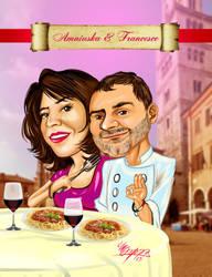 Amniuska y Francesco by MaruroSan