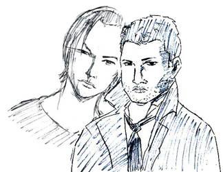 Supernatural Fan Art: Sam and Dean by mrsticky005