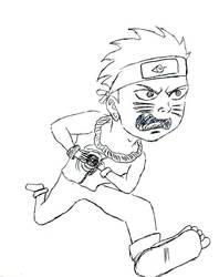 Fan Art Naruto Running by mrsticky005