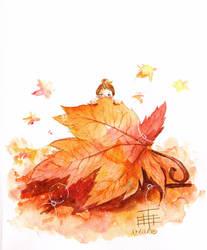 Autumn Fairy by hititle
