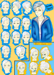 Undertale Human sans  by shina1319