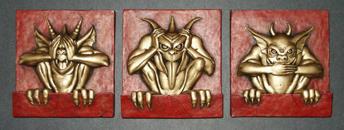 Red and Gold Gargoyles by JIM-SWEET