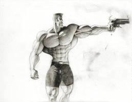 Big Guy With Gun by JIM-SWEET