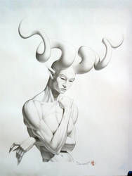 Horngirl III by JIM-SWEET