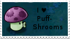PvZ Stamp: I love Puff-Shrooms by Shadow-Cipher
