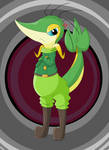 SNiVeLY aS SNiVY by Shadow-Cipher
