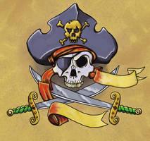 Pirate Skull Tattoo by Green-Jet