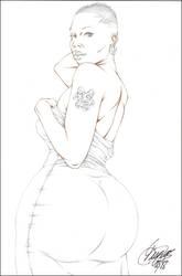 MIKAELA ARSE PENCIL by ARTofTROY