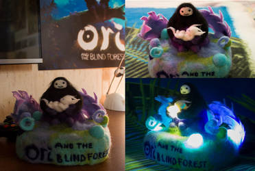 Ori and the Blind forest. Handmade nightlight by Janeyris