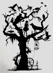 Fairytale silhouette by ChloeNArt