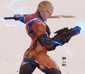 Gray Fox by WitcheressWoxy