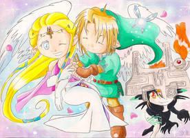 Zelda Link et Midna by ZeldaPeach