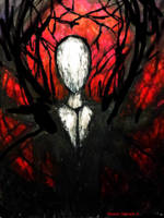 Hes called Slender Man  by MaskedMidnight